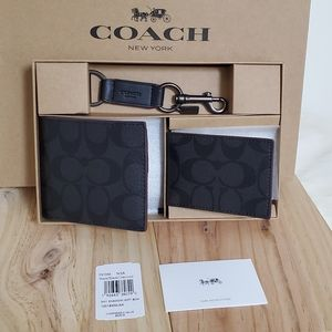 ⚜COACH Boxed 3-In-1 Wallet  Set